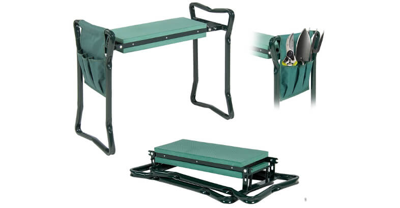 Abco Tech Garden Kneeler And Seat Foldable Stool