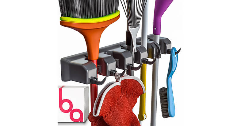 Berry Ave Broom Holder And Garden Tool Organizer For Rake Or Mop Handles Up To 1.25 Inches