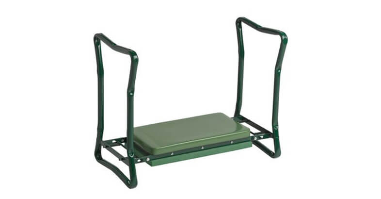 Gardeners Supply Company Extra Wide Seat Folding Garden Kneeler Green