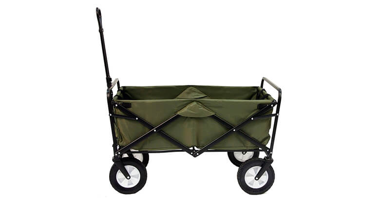 Mac Sports Collapsible Folding Outdoor Utility Wagon, Green