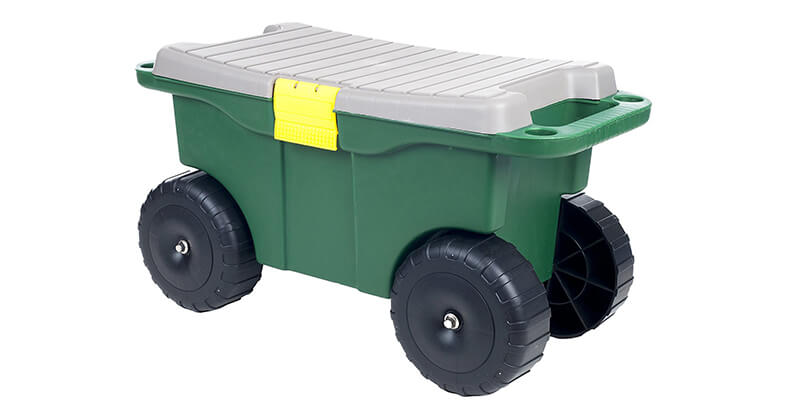 Pure Garden 75 MJ2011 20 Plastic Garden Storage Cart U0026 Scooter