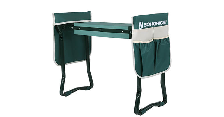 SONGMICS Folding Garden Kneeler Bench Stool With Pad For Gardening Sturdy, Lightweight And Practical Protect Your Knees And Clothes When Gardening
