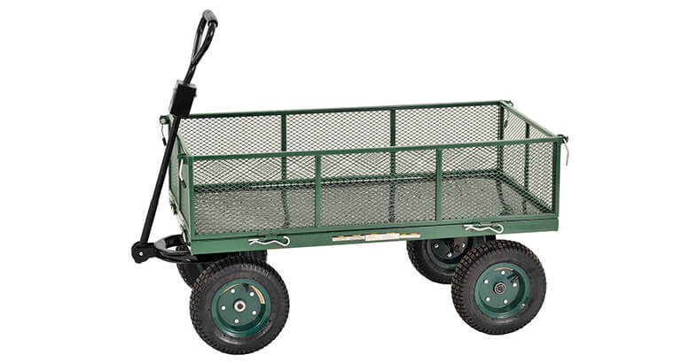 Sandusky Lee CW4824 Muscle Carts Steel Utility Garden Wagon, 1000 Lb. Load Capacity, 21 3 4 Height X 48 Length X 24 Width