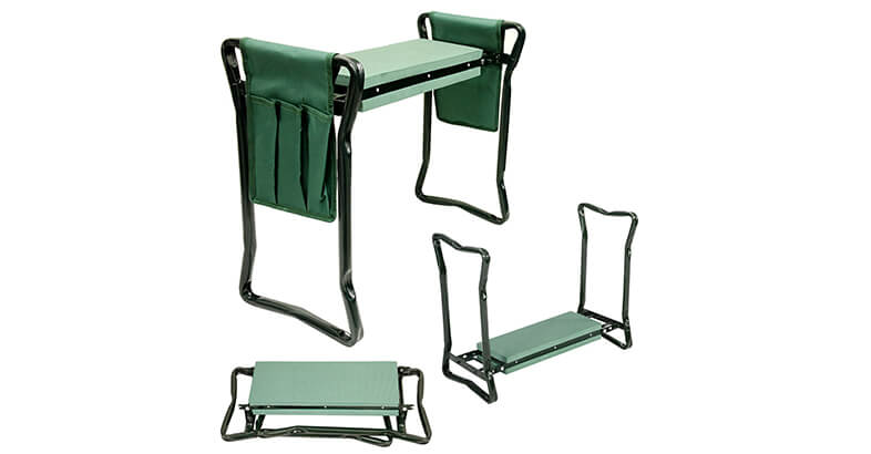 U.S. Garden Supply Foldable Garden Kneeler And Seat With 2 Tool Pouches Soft EVA Foam Knee Pad Cushion Portable Folding Stool Bench Chair